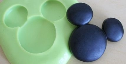 Molde de Silicone Rosto Mickey (3cm)