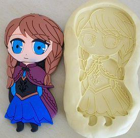 Molde de Silicone Princesa Anna G (7,8cm)