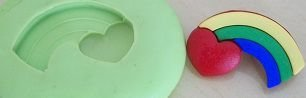 Molde de Silicone Patrick - Arco iris (2,5cm)