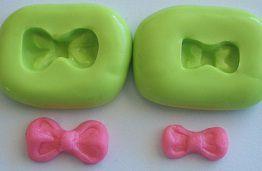 Molde de Silicone Laço P e PP Minnie (1,7 e 1,4cm)