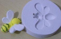 Molde de silicone Abelha -2654 (3cm)