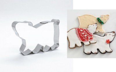Cortador de biscoito Urso Polar (9x7cm)