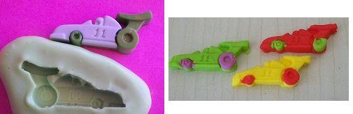 Molde de Silicone Carro corrida P (3cm)