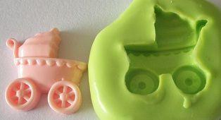 Molde de Silicone Carrinho novo bebê (2,2cm)