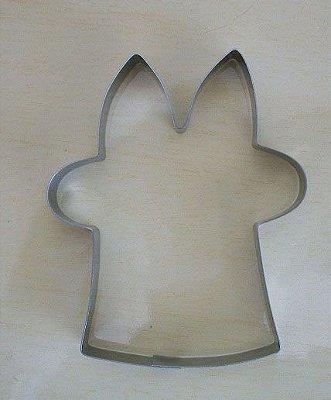 Cortador de biscoito Coelho na cartola (9cm)