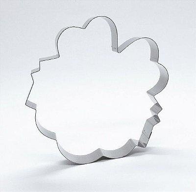 Cortador de biscoito Placa com laço (10,5x11cm)