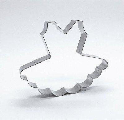Cortador de biscoito Vestido Bailarina (10cm)