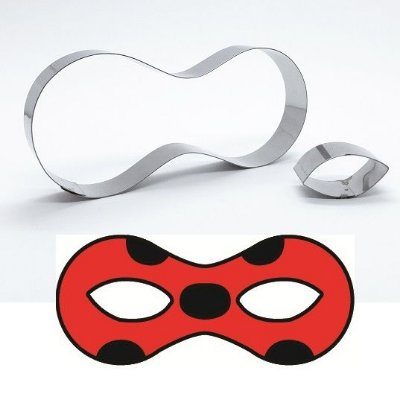 Cortador de biscoito Máscara Ladybug (11x5cm)