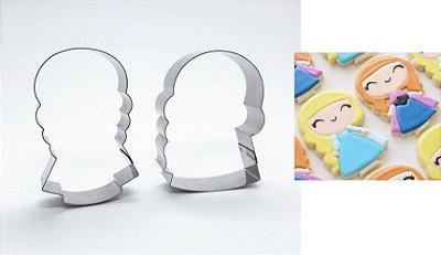 Cortador de biscoito Anna e Elsa (Frozen)