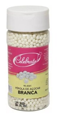 Pérolas de Açúcar Brancas 3mm (130g)