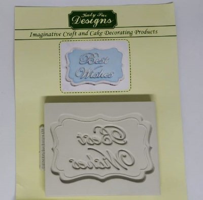 Molde de silicone Moldura Best Wishes (Katy Sue Designs - importado)