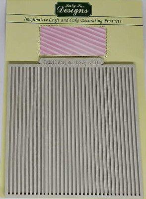 Molde de silicone Listras (Katy Sue Designs - importado)