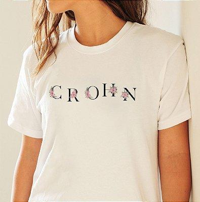 Camiseta Crohn Flores