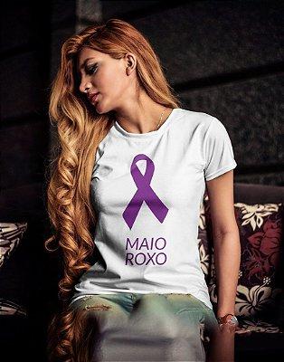 Camiseta Baby Look Maio Roxo