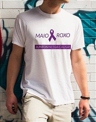 Camiseta | Maio Roxo | Juntos nessa Causa