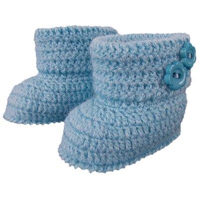 Botinha de Crochê em Lã Modelo Moleque