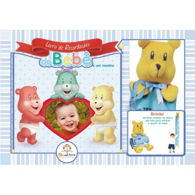 Livro de Recordações do Bebê para Menino