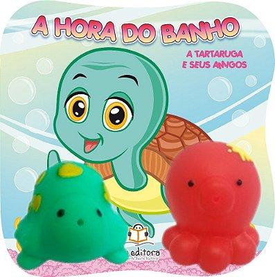 Livro Infantil A Tartaruga e Seus Amigos Coleção A Hora do Banho