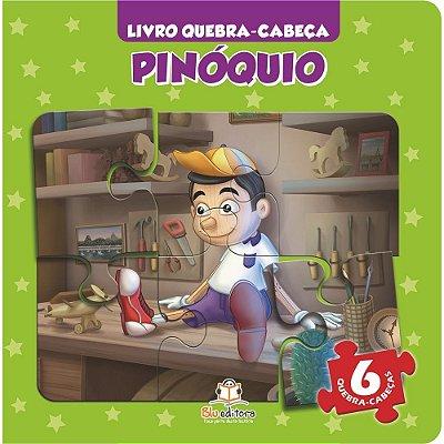 Livro Quebra-cabeça Pequeno Pinóquio