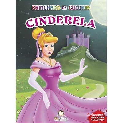 Livro Brincando de Colorir Cinderela