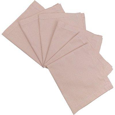 Guardanapo de Tecido Liso na Cor Rosa Envelhecido 6 peças