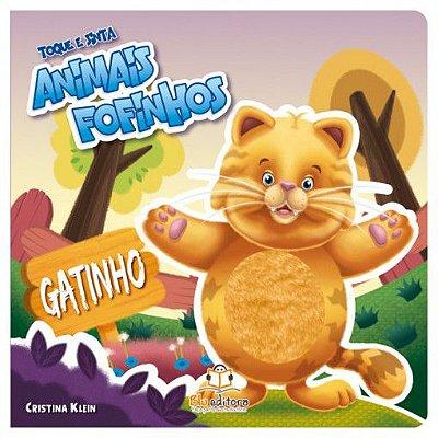 Livro Infantil Toque e Sinta Animais Fofinhos Gatinho