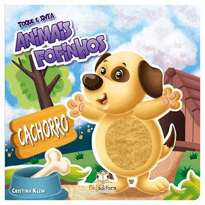 Livro Infantil Toque e Sinta Animais Fofinhos Cachorrinho