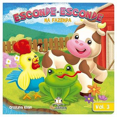 Livro Infantil Esconde-esconde na Fazenda Volume 3