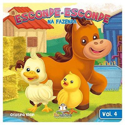 Livro Infantil Esconde-esconde na Fazenda Volume 4