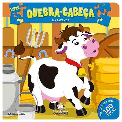 Livro Quebra-cabeça Médio: Animais da Fazenda