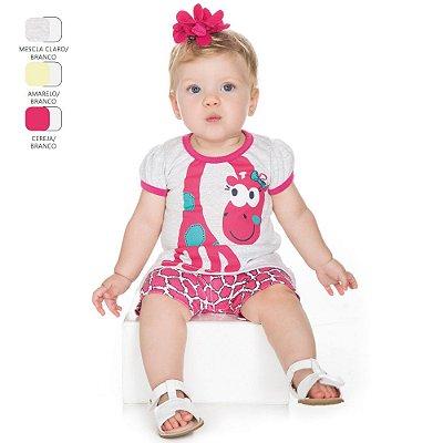 Conjunto para Bebê Menina Batinha e Short (Verão)