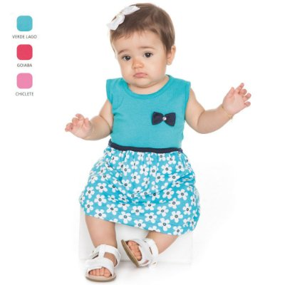 Vestido para Bebê Menina Modelo Regata (Verão)
