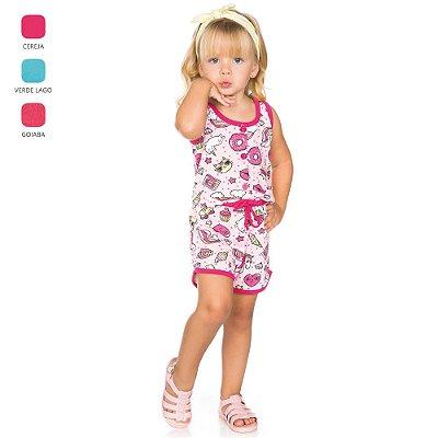 Macacão Regata Infantil para Menina (Verão)