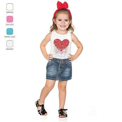 Regata com Estampa Infantil para Menina (Verão)