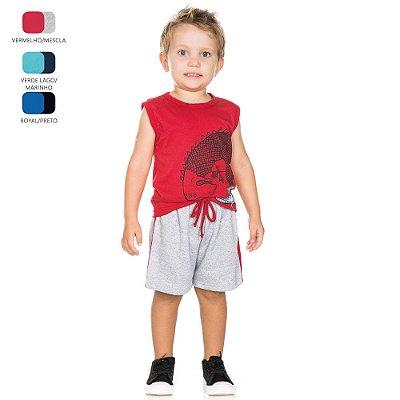 Conjunto Infantil para Menino Camiseta Machão (Verão)