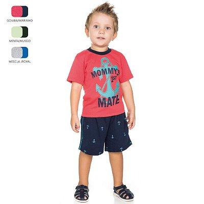 Conjunto Infantil para Menino Camiseta Meia Manga (Verão)