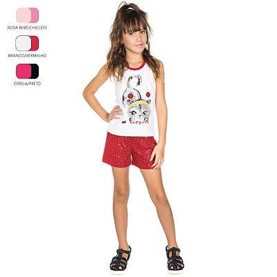 Conjunto Infantil para Menina Regata e Short (Verão)