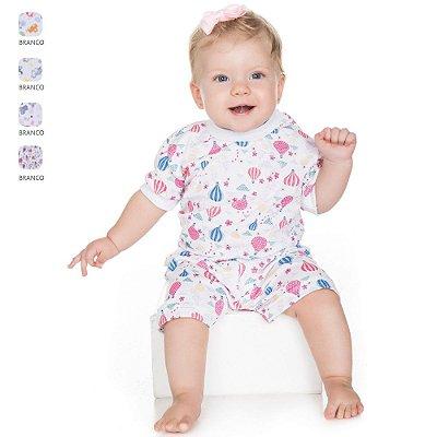 Pijama para Bebê Menina Conjunto Estampado (Verão)
