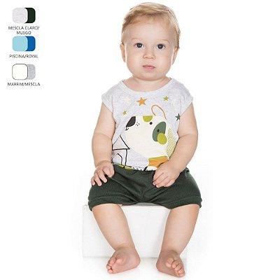 Pijama para Bebê Menino Regata e Bermuda (Verão)