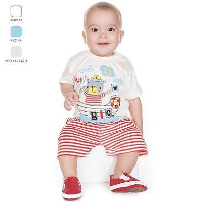 Pijama para Bebê Menino Meia Manga e Bermuda (Verão)