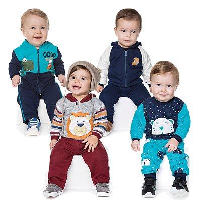 Roupas de Bebê Menino Kit 4 Conjuntos Longo de Inverno
