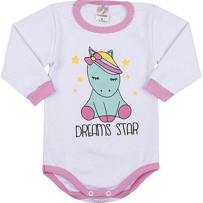 Roupa Bebê Menina Body Longo de Ribana Inverno Dreams Star
