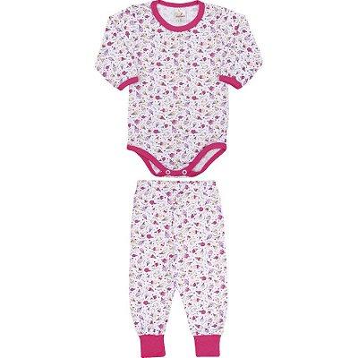Roupa Bebê Menina Conjunto Body e Calça Inverno Rotativo