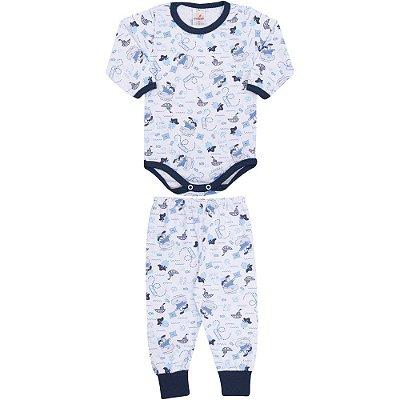 Roupa Bebê Menino Conjunto Body e Calça Inverno Rotativo