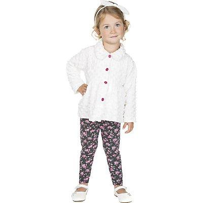 Roupa Infantil Conjunto Calça de Cotton e Batinha de Plush