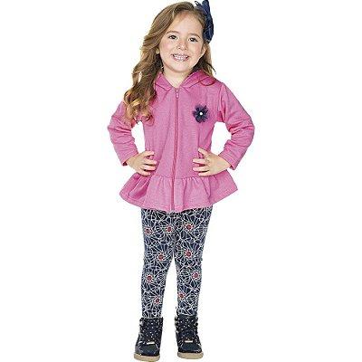 Roupa Infantil Menina Conjunto Legging e Casaco Inverno