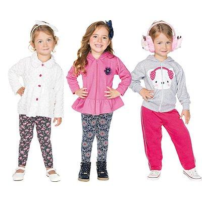 Roupa Infantil Menina Kit 3 Conjuntos Longo Inverno Isensee