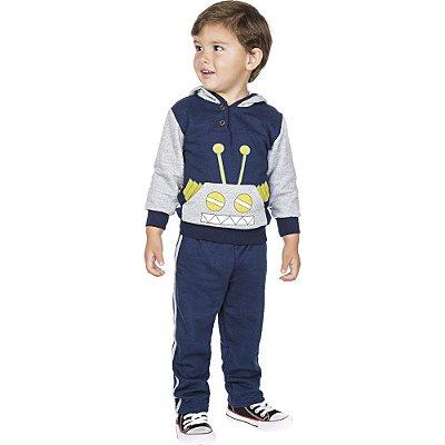 Roupa Infantil Menino Conjunto Calça Casaco Moletom Inverno