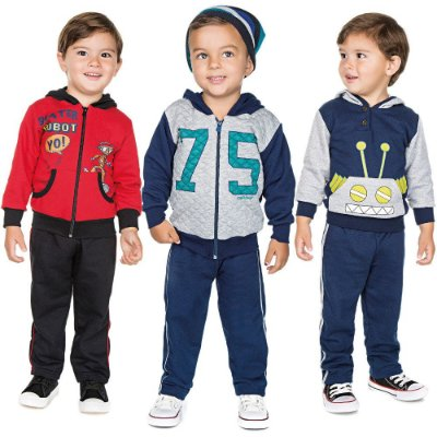 Roupa Infantil Menino Kit 3 Conjuntos Longo Inverno Isensee