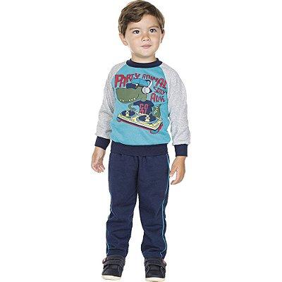 Roupa Infantil Menino Conjunto Calça Casaco Raglan Inverno
